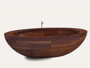 wooden bath which massage chair