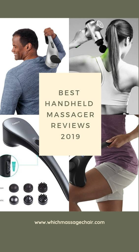 Best handheld massager reviews for 2019. Full body massage tool for aching muscles and back pain. Great gift to relieve stress and help relaxation.