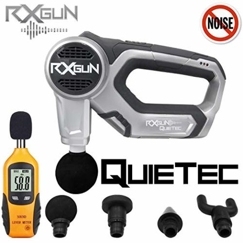 RxGun QUIETec Vibration Percussion Massager Cordless Rechargeable Handheld